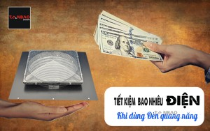 Tiết kiệm được bao nhiêu điện khi dùng đèn quang năng
