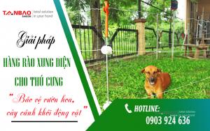 Giải pháp Hàng rào xung điện cho thú cưng