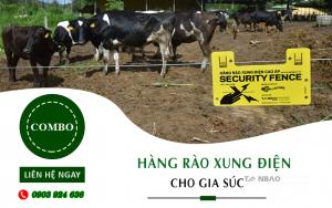 Bộ Combo thiết bị để lắp Hàng rào xung điện cho gia súc
